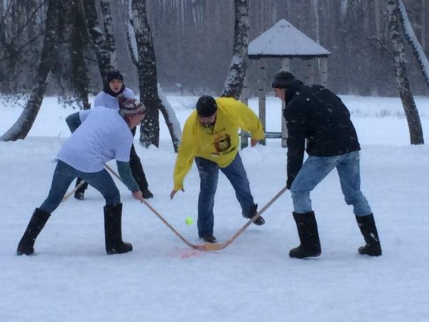 Хоккей в валенках ПКиО «Ёлочки»